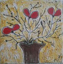 Fantasie, Rot, Gelb, Blumen