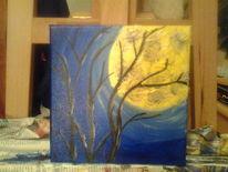 Nacht, Baum, Blau, Dunkel