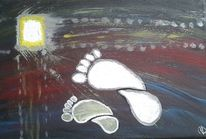 Schritt, Abstrakt, Licht, Acrylmalerei
