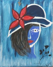 Blumen, Rot, Rose, Blau