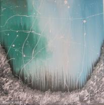 Eis, Abstrakt, Gemälde, Winter