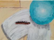 Malerei, Raupe, Ball