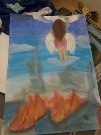 Weltuntergang, Engel, Apokalypse, Feuer