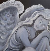 Frieden, Traum, Acrylmalerei, Engel