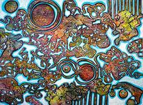 Fantasie, Traum, Landkarte, Malerei