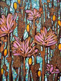 Frühling, Fantasie, Blumen, Malerei