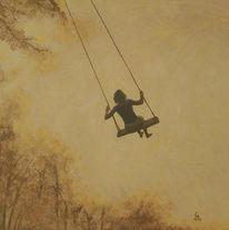 Freiheit, Schaukel, Acrylmalerei, Malerei