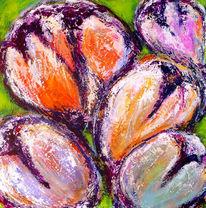 Blumen, Tulpen, Frühling, Malerei