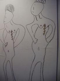 Körper, Lingham, Malerei,