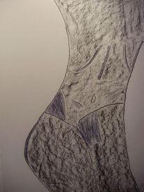 Perfekt, Körper, Stehen, Malerei