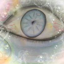 Augen, Bubbles, Digitale kunst