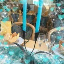 Kerzen, Türkis, Digitale kunst, Romantisch
