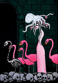 Flamingo, Geist, Surreal, Braut