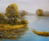 Baum, Herbst, Tag, Fluss