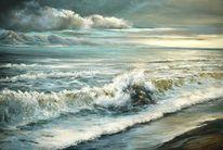 Wasser, Himmel, Strand, Berge