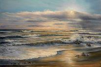 Sonnenuntergang, Meerlandschaft, Strand, Wasser