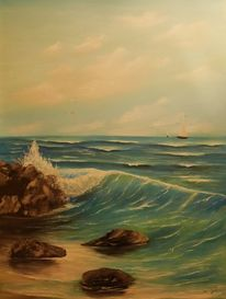 See, Welle, Meer, Malerei