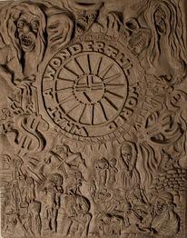Keramik, Skulptur, Plastik, Relief