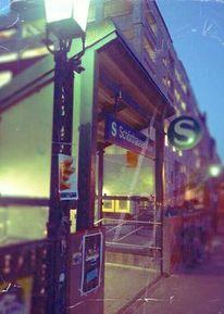 Stadt, Fotografie, Abend, Bahnhof