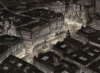 Nacht, Tusche, Wien, Schwarz