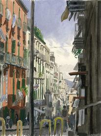 Farben, Menschen, Italien, Figurativ