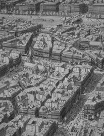 Stadt, Boulevard, Paris, Realismus