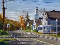 Haus, Herbst, Kirche, Architektur