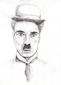 Melone, Zeichnung, Schwarz weiß, Portrait