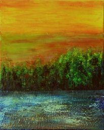 Fluss, Wild, Himmel, Wald