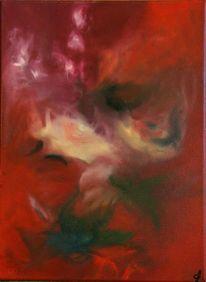 Ölmalerei, Blätter, Glück, Blüte