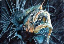 Lebewesen, Flosse, Fisch, Anglerfisch