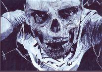 Halloween, Zombie, Grusel, Malerei