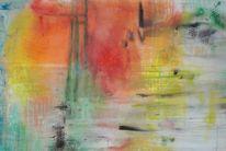 Frühling, Jahreszeiten, Farben, Acrylmalerei