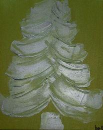 Grün, Weihnachten, Acrylmalerei, Spachtel