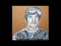 Portrait, Airbrush, Mischtechnik,