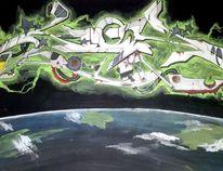 Jugend, Graffiti, Gefühl, Farben