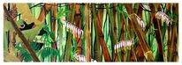 Wald, Busch, Pflanzen, Dinosaurier