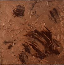 Acrylmalerei, Abstrakte kunst, Braun, Kupfer