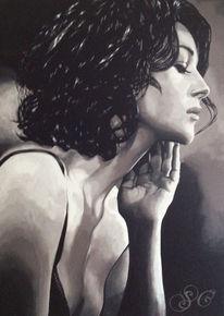 Monica bellucci, Portrait, Malerei
