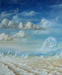 Diem, Vulkan, Berge, Wolken