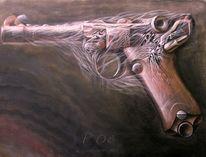 Tod, Klassisch, Waffe, Lüger