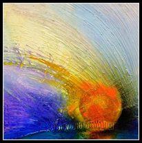 Meer, Blau, Malerei, Komet