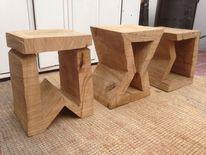Eichen, Holz, Kettensäge, Skulptur