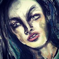 Augen, Pastellmalerei, Gesicht, Kohlezeichnung