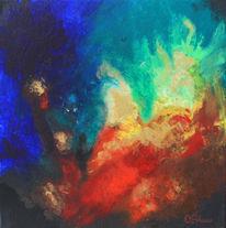 Farben, Gedanken, Malerei, Explosion