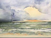 Nordsee, Meer, Sonnenuntergang, Romantisch