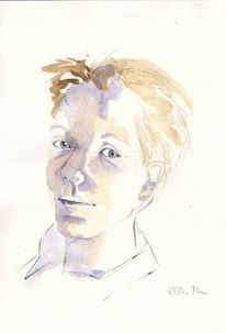 Porträtskizze, Portrait, Skizze, Zeichnung