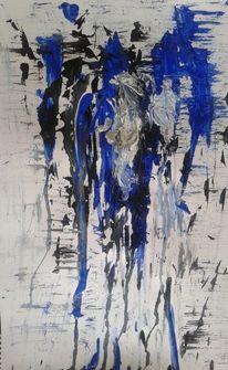 Blau, Abstrakt, Verwischen, Schwarz