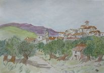 Haus, Stimmung, Spanien, Olivenbaum