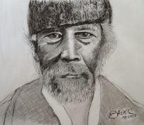 Portrait, Bart, Alter mann, Malaye